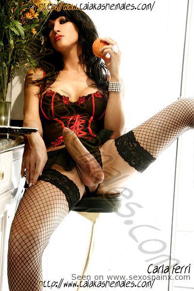 Shemale Big Dicks Brazilian Transsexual Carla Ferri.