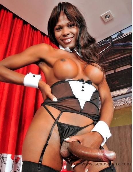 Negras travestis africanas con rabos grandes