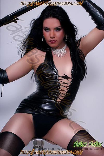 Transexuales de Francia vestidas de cuero con glamour y belleza.