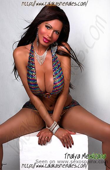 Diosa Transexual Thalya Mexicana Travestis Valencia.