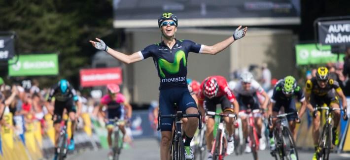 Critérium du Dauphiné 2016 - 07/06/2016 - Deuxième étape : Crêches-sur-Saône/Chalmazel-Jeansagnière (168 km) - Jesus Herrada (Movistar Team) remporte le sprint final