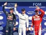 Top 3 formado por Rosberg, Verstappen y Raikkonen. Foto cortesía: http://www.motorsport.com/