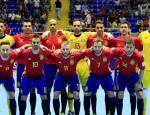 El combinado español posando antes del partido