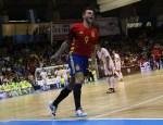 Sergio Lozano celebrando uno de sus goles