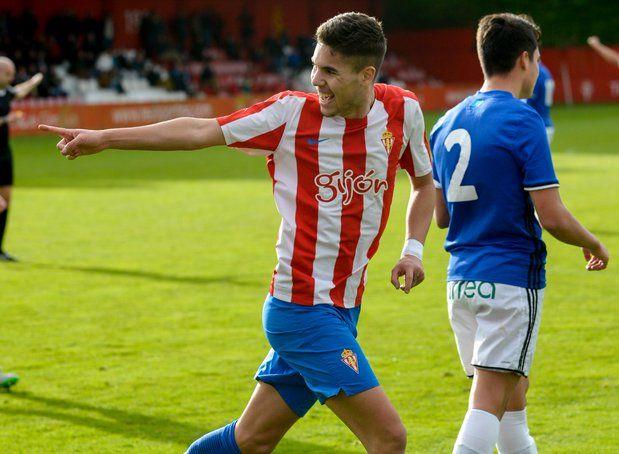 El juvenil Dani Sandoval es uno de los favoritos a poder dar el salto desde el juvenil al filial este verano (Foto: Real Sporting)
