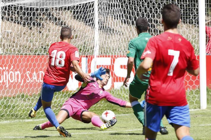 Bertín (con el '18') logró el gol del triunfo del filial ante el Gernika (Foto: El Comercio)