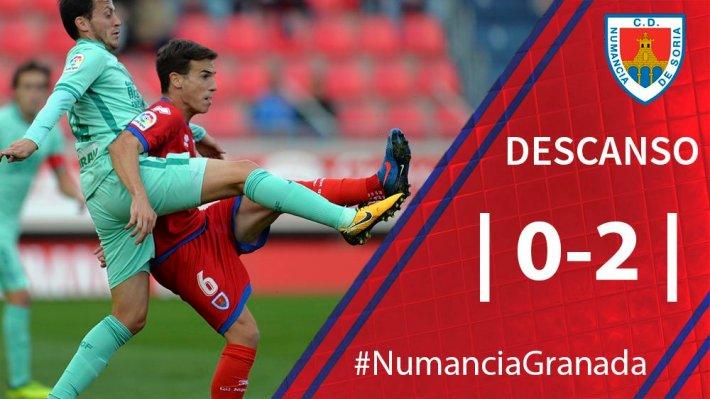 Marcador al descanso con la ya victoria por 0-2 del Granada