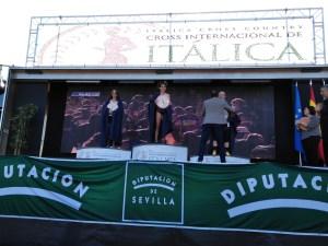 XXXVI #crossinternacionalitalica Santiponce, Sevilla #cross Podium Femenino Sub18 #atletismo