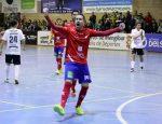 Dani Aranda celebrando su gol