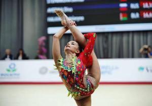 Dina Averina en el Grand Prix de Moscú
