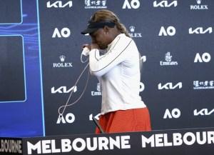 Serena williams entre lágrimas por Osaka del times de los Ángeles