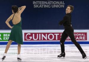 Detalle de la danza rítmica de Sara y Kirill