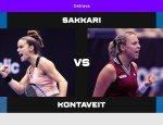 María Sakkari y Annet Kontaveit jugarán la final del Ostrava Open