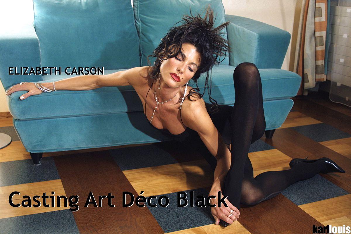 Elizabeth Carson - Casting Art Deco Black
