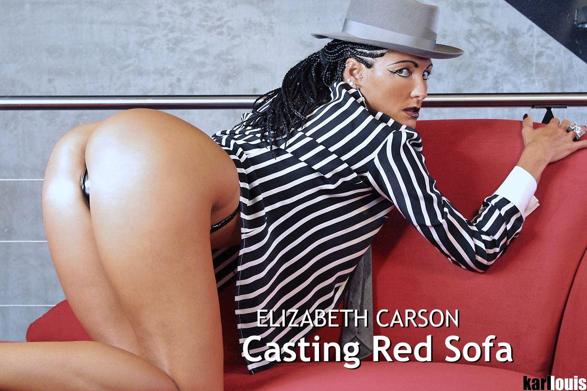 Elizabeth Carson - Casting Red Sofa