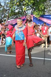 Afrika ist präsent auf dem Seychellen Carnaval 2016