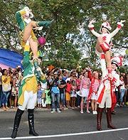 Seychellen Karneval: Kölner und Düsseldorfer Tanzpaare bei 32 Grad auf dem Seychellen Carnaval International de Victoria 2016