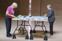 Eleanor and Chelan, Community Quilt Day