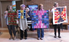Pam, Isabelle, Barb and Anne, Krista Hennebury Workshop quilts