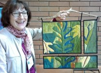 Ilse's tryptych quilt