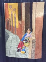 """San Miguel Doll Maker by Jenny Perry of Lac Le Jeune, BC ... from """"a photograph of a dollmaker selling her dolls"""" in Mexico."""