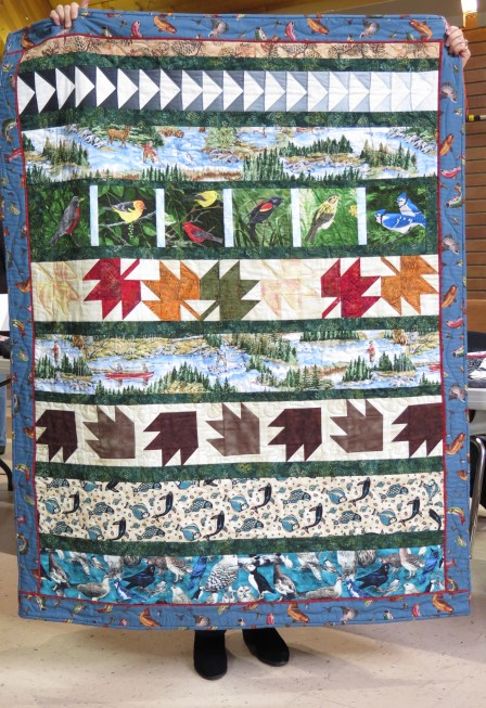 a Canadian themed quilt