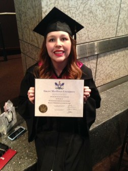 After receiving my diploma!