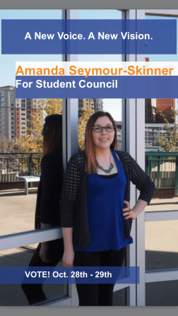 Campaign poster for Students' Council