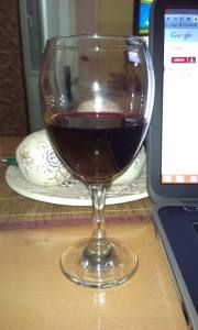 Glass of Cherry Wine