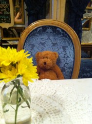 I took this picture because the teddy reminds me of our dog back home Koba....chunky monkey!