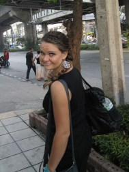 I think Abby is beautiful and this is her on the way to the convention in Bangkok one morning.