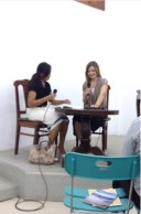Sorry for the blurry image , but this is ME and Dina on the school. It was my first official part. I was Dina's householder :)