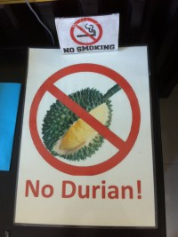 Even the Khmer know how reek stench durian is. It is a fruit here that is terrible. People say if you can get past the smell it isn't so bad. I can't get past the smell!