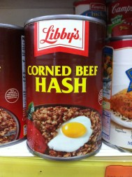 Oh my goodness my life search is over! I wanna meet the commercial photographer for this magnificent can too. Whoah...egg on beef hash! Dreams really do come true!....Sorry, just barfed in my mouth a little!