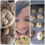 Abby found the yummiest recipe for GF choc chip cookies! OH MY GOODNESS. I wanted to eat them all.