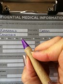 Finally a medical information card that made room for individuals like myself.....HINT: Pen is pointing...
