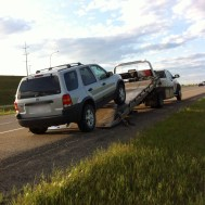 So....outside of Calgary my truck stopped. Neither Abby or I had a phone! Was quite the experience flagging someone down off the highway. Again....long story short. Was nutzo!