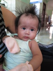 My study's baby's hair is just unreal!
