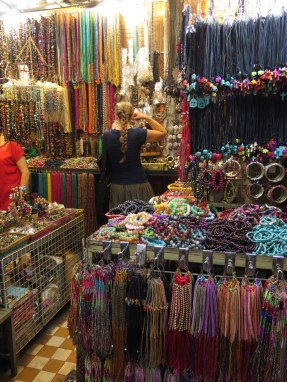 When Abby wants to avoid being near me she goes into places like this....THE SCARIEST store on the planet. I have a severe jewlery/ beads/ jibbly things phobia! (maybe i need to blog about this???)