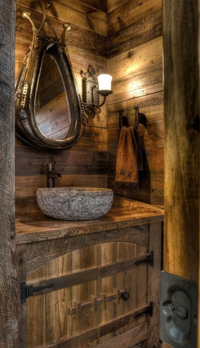 özel rustik banyo bâtıla