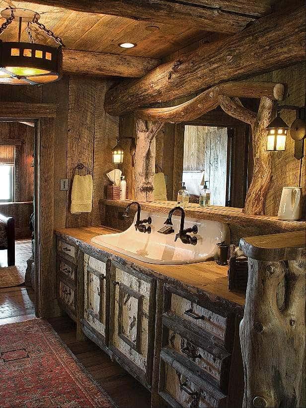 rustik banyo bâtıla lowes