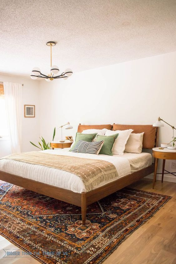 yüzyıl ortası modern yatak odası