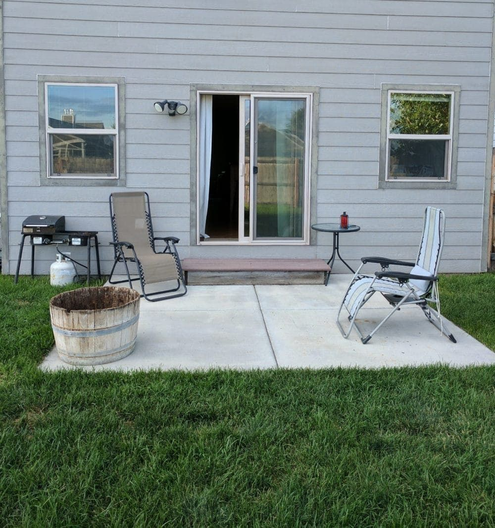 patio makeover on a budget how it
