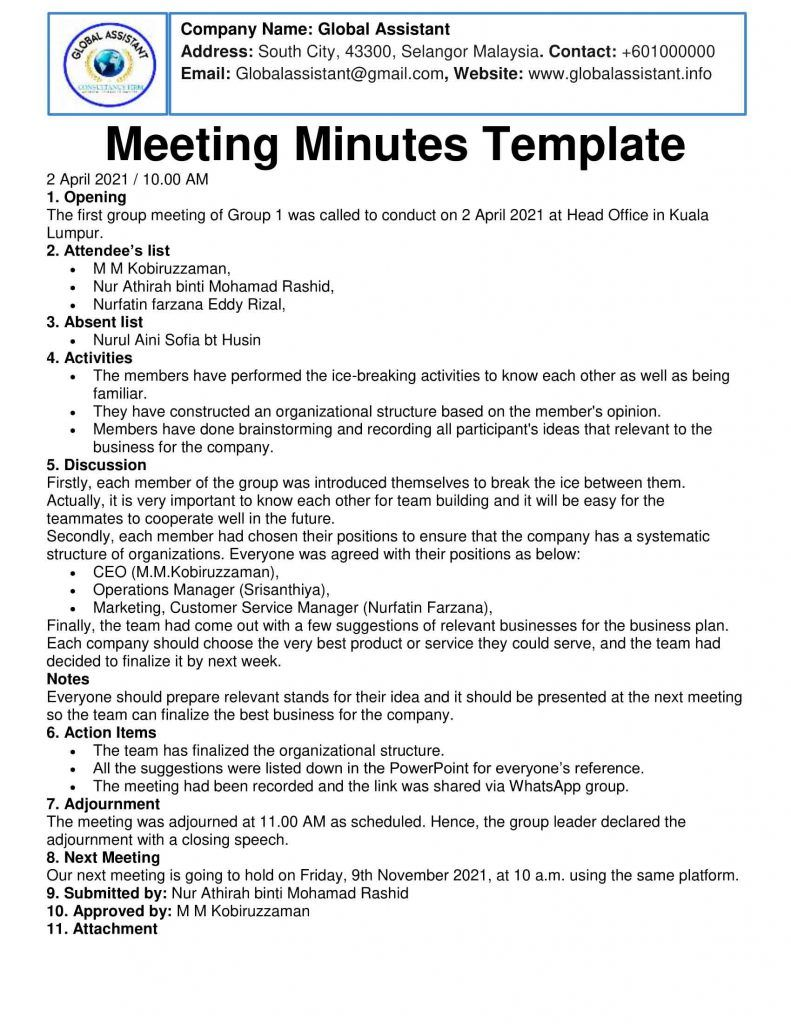 Here are 12 awesome options to get you started using the minutes of meeting … Minutes Of Meeting Example Sample Elements Types Advantages