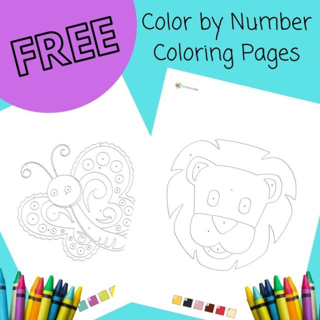 FREE Color by Number Coloring Pages for Kids - Fun Sensory Play