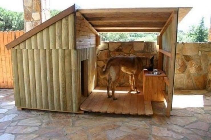 acheter une niche pour chien en bois