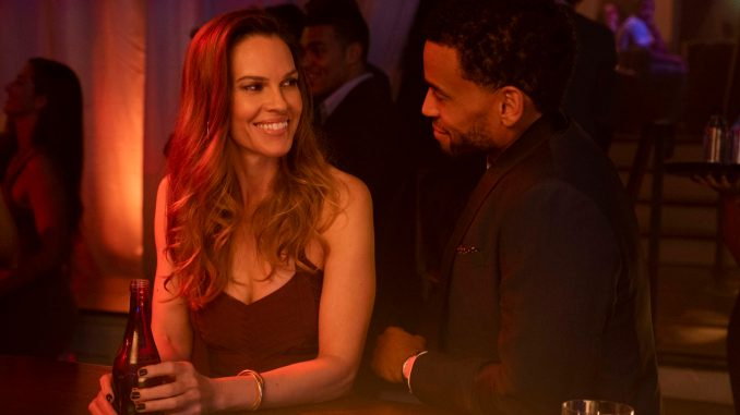 Hilary Swank, Michael Ealy on the set of FATALE