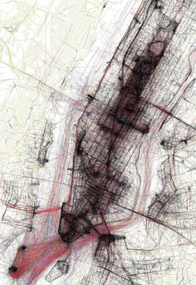 Click to enlarge NYC Geotagger's Atlas. Image: Eric Fischer.