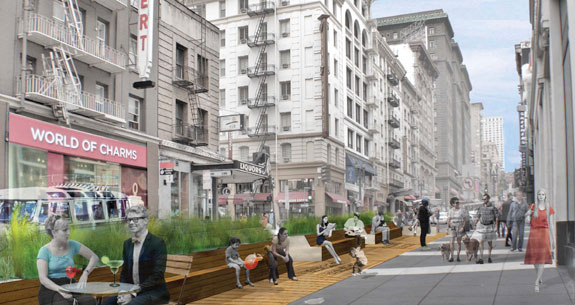 San Franciscos Latest Pavement To Parks Project Brought To You By - Audi san francisco