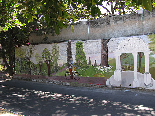 This mural was just painted in the past couple of weeks on a wall facing the corridor.
